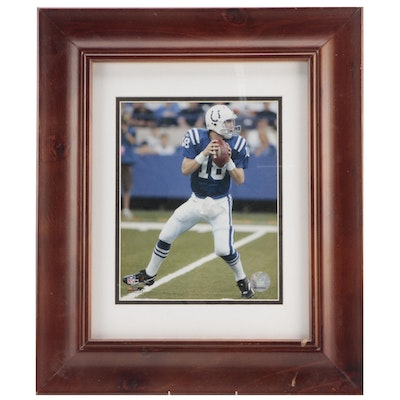 Peyton Manning Photographic Print with NFL Holotag, Framed in Matte