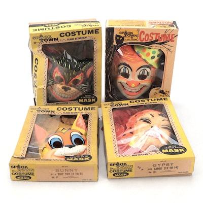 """Ben Cooper """"Cat"""", """"Bunny"""", """"Gypsy"""", """"Clown"""" Halloween Masks, Costumes"""