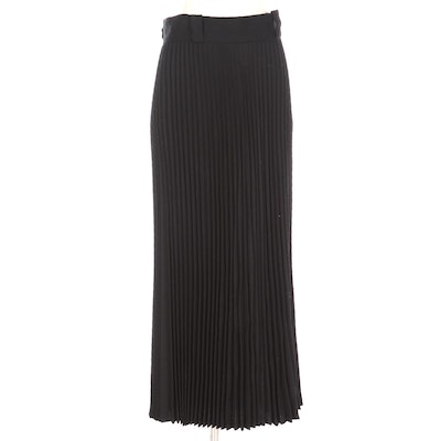 Spitalnick & Co. Accordion Pleated Black Wool Skirt from Saks Fifth Avenue