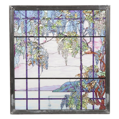 MMA Reproduction Tiffany Stained Glass Panel