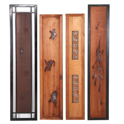 Asian Style Laser Cut and Relief Carved Door and Wall Panels