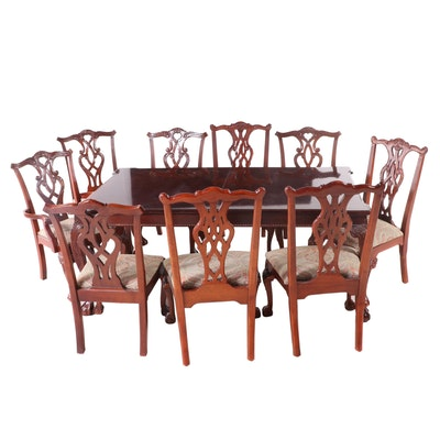 Stanley Furniture Company Chippendale Style Mahogany Dining Set