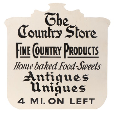 """Wooden """"The Country Store"""" Novelty Road Sign"""