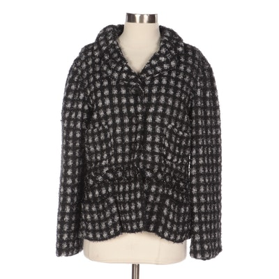 Marc Jacobs Metallic Flecked Knit Jacket