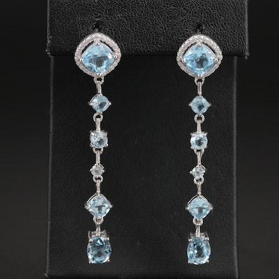 Sterling Sky Blue Topaz Drop Earrings