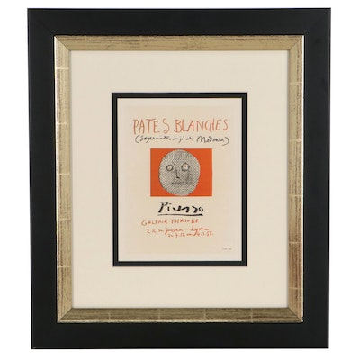 """Lithograph Bookplate After Pablo Picasso """"Pates blanches"""""""