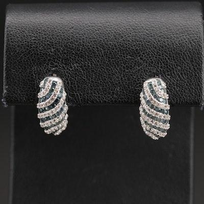 Sterling Topaz Drop Earrings