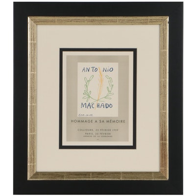 "Lithograph After Pablo Picasso ""Hommage a Antonio Machado"""