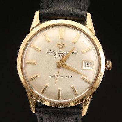 14K Jules Jurgensen Chronometre Wristwatch