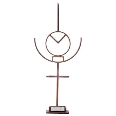 "Ralph Wickstrom Steel Sculpture ""Reliquary Guardian,"" Late 20th Century"