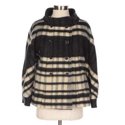 Marc by Marc Jacobs Double-Breasted Plaid Jacket with Dolman Sleeves