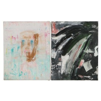 Jon Scharlock Abstract Oil Paintings, 1999