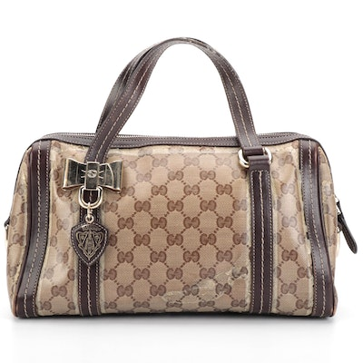 Gucci Duchessa Boston Bag in Crystal Canvas and Leather