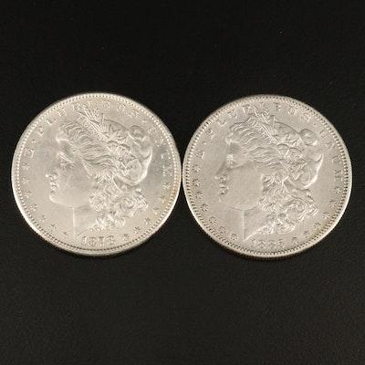 1878-S and 1885-S Morgan Silver Dollars