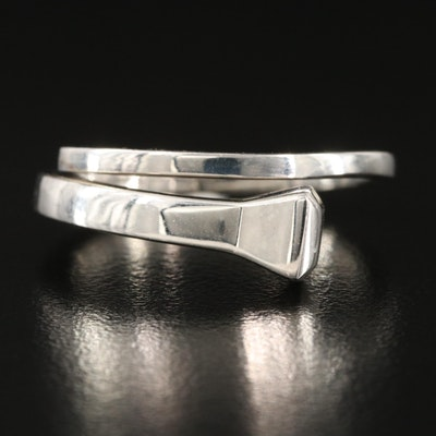 "Italian Gucci ""Chiodo"" Sterling Silver Nail Ring"