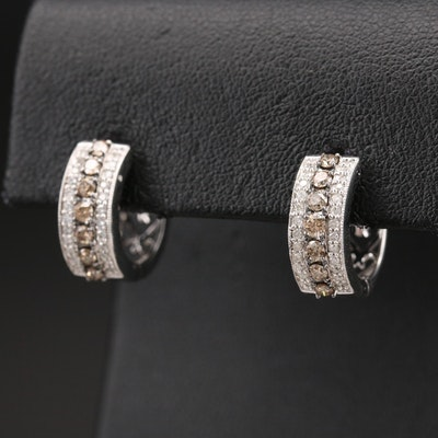 14K 0.75 CTW Diamond Huggie Earrings