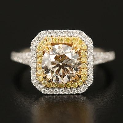 Natalie K 18K Diamond Ring with 1.71 CT Center Diamond