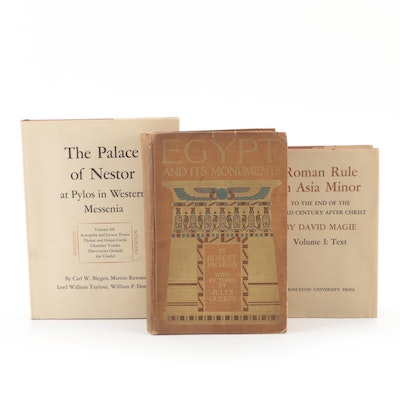 """First Edition """"Egypt and Its Monuments"""" and More Ancient History Books"""