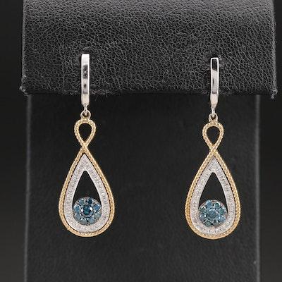 10K 0.55 CTW Diamond Loop Earrings