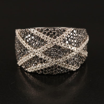 Sterling 1.01 CTW Diamond Crossover Band