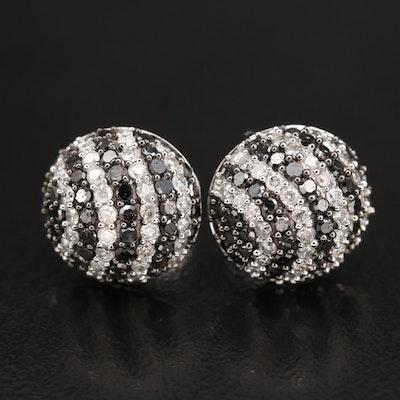 14K 2.00 CTW Diamond Striped Earrings