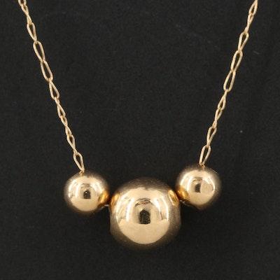 14K Bead Necklace
