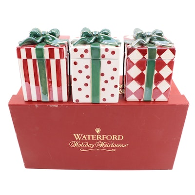 """Waterford """"Holiday Heirlooms"""" Porcelain Gift Boxes"""
