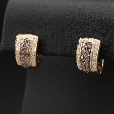 14K 1.00 CTW Diamond Huggie Earrings