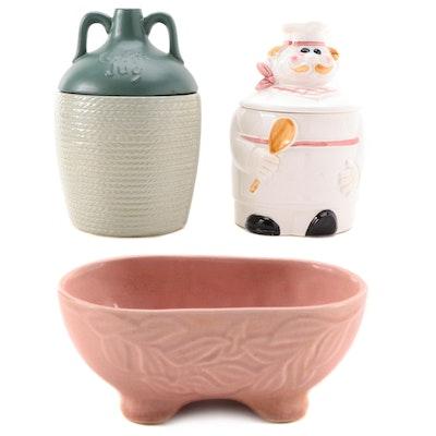 "Brush McCoy Ceramic Planter with McCoy Ceramic ""Cookie Jug"" and More"