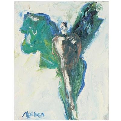 "Claire McElveen Oil Painting ""Guardian Angel,"" 2021"