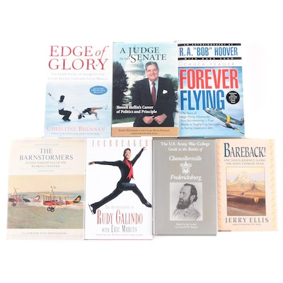 """Signed Biography Collection, Including """"Edge of Glory"""" by Christine Brennan"""