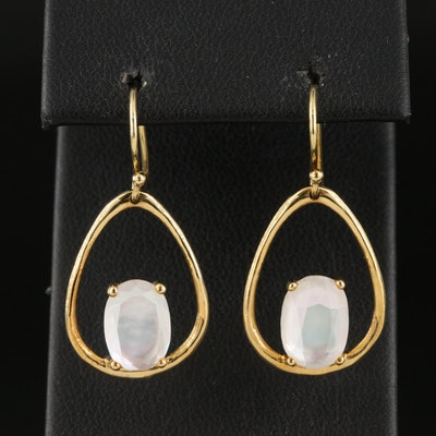 "Ippolita ""Rock Candy"" 18K Mother of Pearl, Quartz, Doublet Earrings"