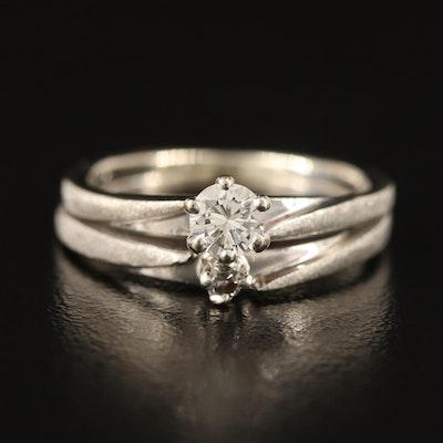 14K Diamond Ring with 0.28 CT Center Diamond