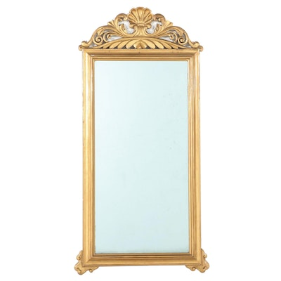 Neoclassical Style Gilt Pier Mirror, Late 19th/ Early 20th Century