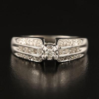 10K 0.25 CTW Diamond Ring