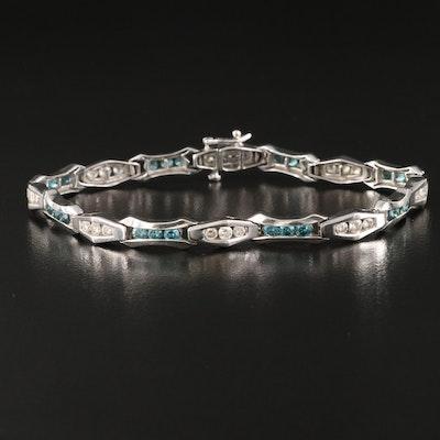 14K Fancy Link 3.33 CTW Diamond Bracelet