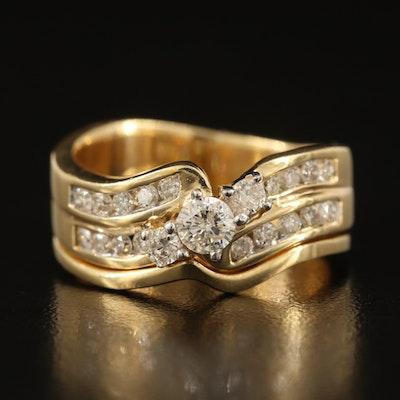 14K 0.75 CTW Diamond Ring Set