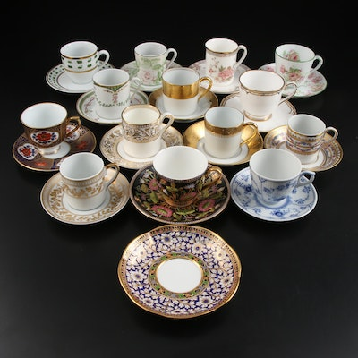 Wedgwood, Royal Limoges, Royal Doulton, and Other Bone China Teacups