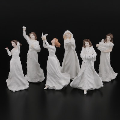 """Royal Doulton """"Christmas Day"""" and Other Bone China Figurines"""