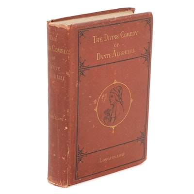 """1876 """"The Divine Comedy"""" by Dante Alighieri with Longfellow Translation"""