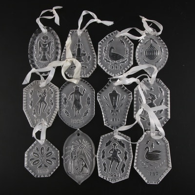 Waterford Crystal Yearly Christmas Ornaments, Late 20th Century