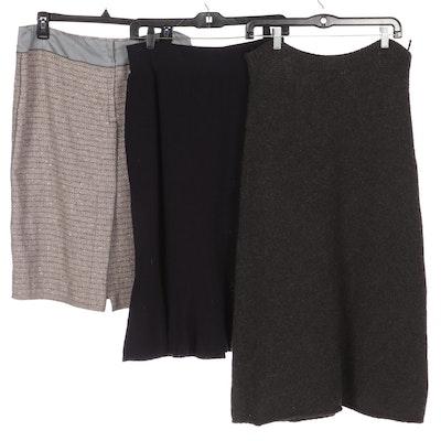 Prada and Sonia Rykiel Knit Skirts with Marc Jacobs Bouclé Skirt