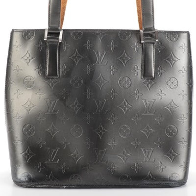 Louis Vuitton Stockton Tote in Monogram Mat Leather