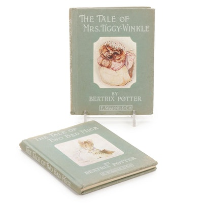 """First Edition """"The Tale of Mrs.Tiggy-Winkle"""" with """"The Tale of Two Bad Mice"""""""