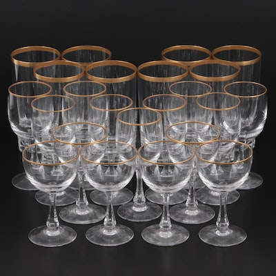 """Forstoria """"Classic Gold"""" Sherry Glasses and Julep Cups"""