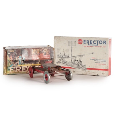 Gabriel and Gilbert Erector Sets, Mid to Late 20th Century