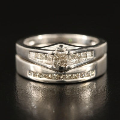 14K 0.50 CTW Diamond Ring Set