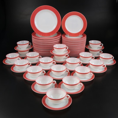 """Pyrex """"Coral"""" Glass Dinnerware, Mid to Late 20th Century"""