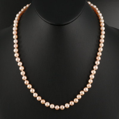 Pearl Necklace with 14K Closure