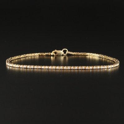 Sterling Silver Diamond Line Bracelet